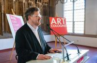 Verleihung des ART COLOGNE-Preises 2019 - Danksagung Christian Kaspar Schwarm © koelnmesse