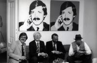 Bernd Klüser, Andy Warhol, Hermann Wünsche, Joseph Beuys  | Foto: Angela Neuke | 1980