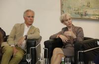 "BVDG ""Im Dialog"" Hamburg, 07.2014. Barbara Kisseler und Thomas Levy (LEVY Galerie)"