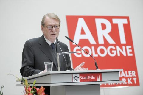 ART COLOGNE-Preis 2013. Preisverleihung 19.04.13. Danksagung Fred Jahn © Koelnmesse