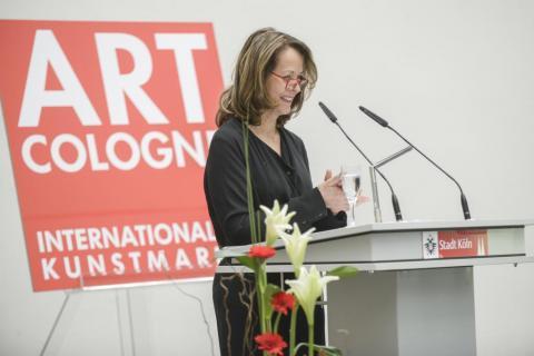 AC-Preis 2014 Rosemarie Schwarzwaelder. Danksagung © Koelnmesse