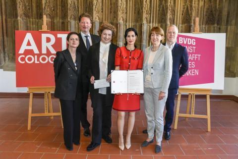 AC-Preis 2018 vlnr: Susanne Titz, Kristian Jarmuschek, Katharina Hamma, Julia Stoschek, Henriette Reker, Daniel Hug © Koelnmesse