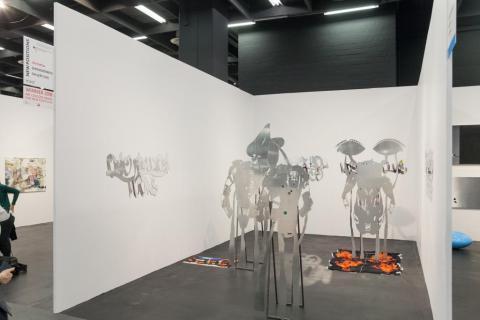 ART COLOGNE 2018 Foerderkoje von Lito Kattou der Eleni Koroneou Gallery, Athen © Marcus Hoffmann Koeln