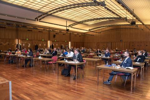 BVDG-Mitgliederversammlung 2020 im Börsensaal der IHK Köln