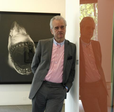 Hans Mayer in seiner Galerie, 2008 (Ausschnitt) © Ralph Görtz, Düsseldorf