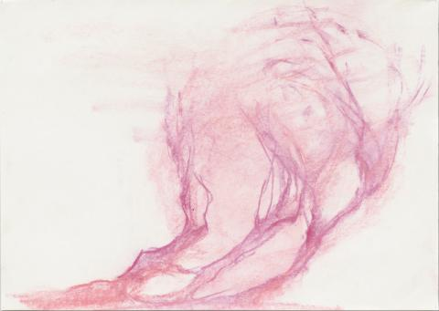 Leiko Ikemura. Red Trees. 2008. Pastell auf Papier © Leiko Ikemura