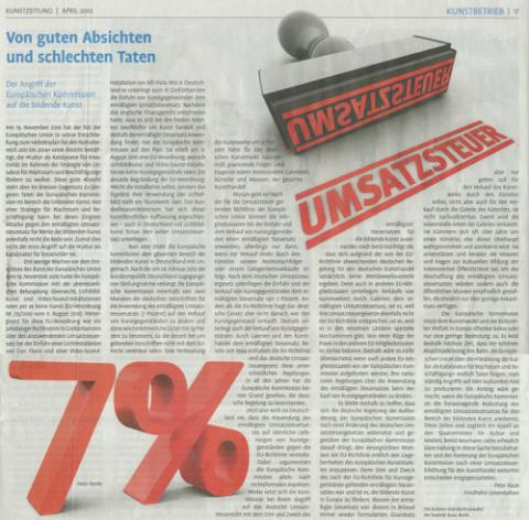 erschienen in: KunstZeitung. April 2012. S.17