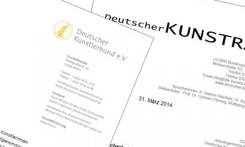 PM Deutscher Künstlerbund und PM Deutscher Kunstrat 04.2014