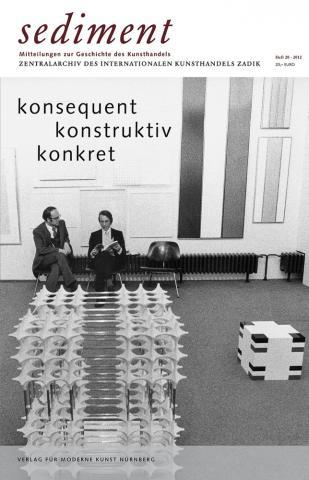 Buchcover: Sediment Nr. 20/2011. Konsequent, Konstruktiv, Konkret. Hg. ZADIK. Verlag für moderne Kunst, Nürnberg