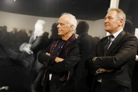 Cologne Fine Art-Preis 2013. Juergen Klauke und Gerald Böse. Foto koelnmesse