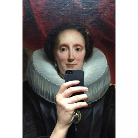 Museum of selfies | Olivia Muus via tumblr