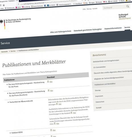 www.kulturgutschutz-deutschland.de . Screenshot