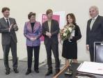 AC-Preis 2014 Rosemarie Schwarzwaelder. (vlnr) Kristian Jarmuschek, Katharina C. Hamma, Prof. Dr. Robert Fleck, Rosemarie Schwarzwaelder, Juergen Rothers © Koelnmesse