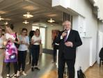 Botschafter Detlef Lindemann begrüßt die deutsche Delegation